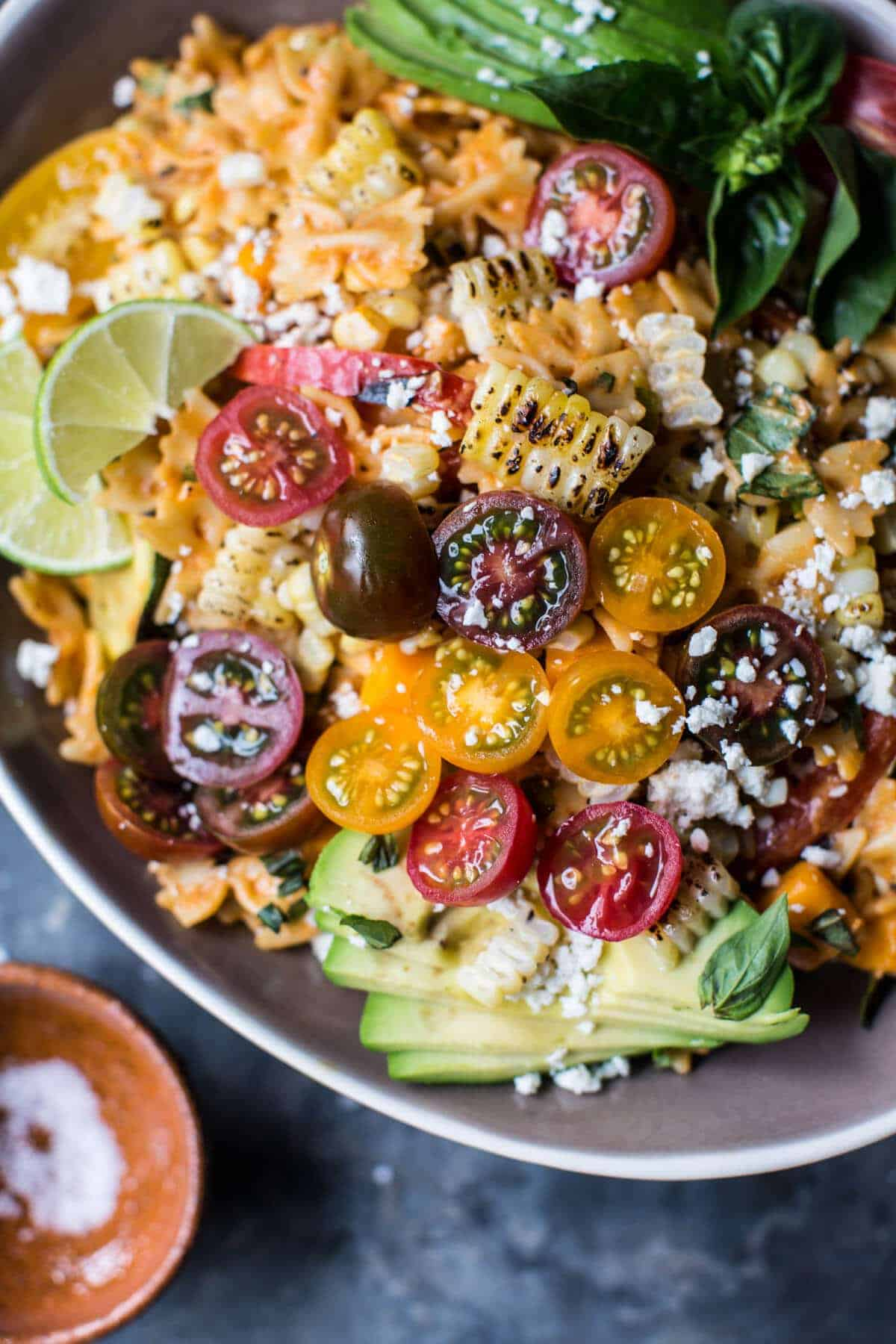 Charred Corn and Zucchini Enchilada Pasta Salad. - Hifow ...