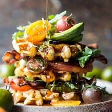 Cheddar Cornbread Waffle BLT with Chipotle Butter + Video