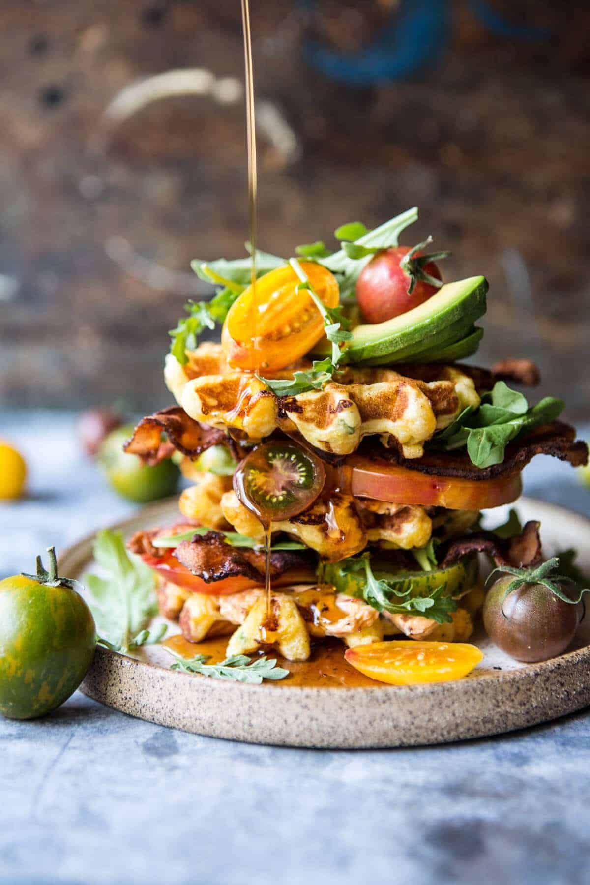Cheddar Cornbread Waffle BLT with Chipotle Butter + Video ...