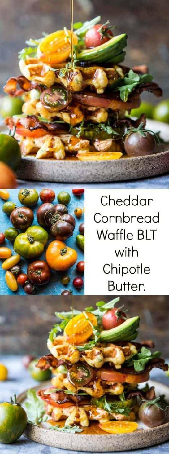 Cheddar Cornbread Waffle BLT with Chipotle Butter | halfbakedharvest.com @hbharvest