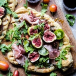 Grilled Tomato, Fig and Prosciutto Pizza.