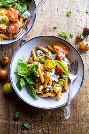 Heirloom Tomato Pomodoro Penne Pasta.