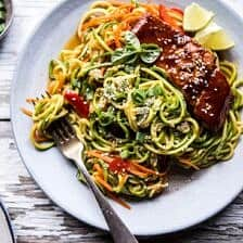 Hoisin Salmon with Zucchini Slaw.