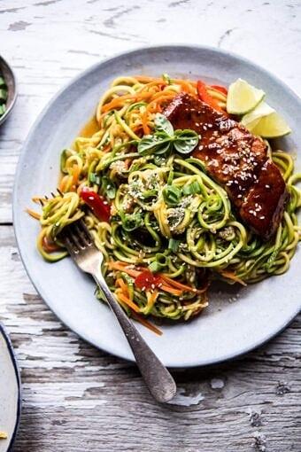 Hoisin Salmon with Zucchini Slaw   halfbakedharvest.com @hbharvest