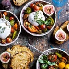 Marinated Cherry Tomatoes with Burrata + Toast.