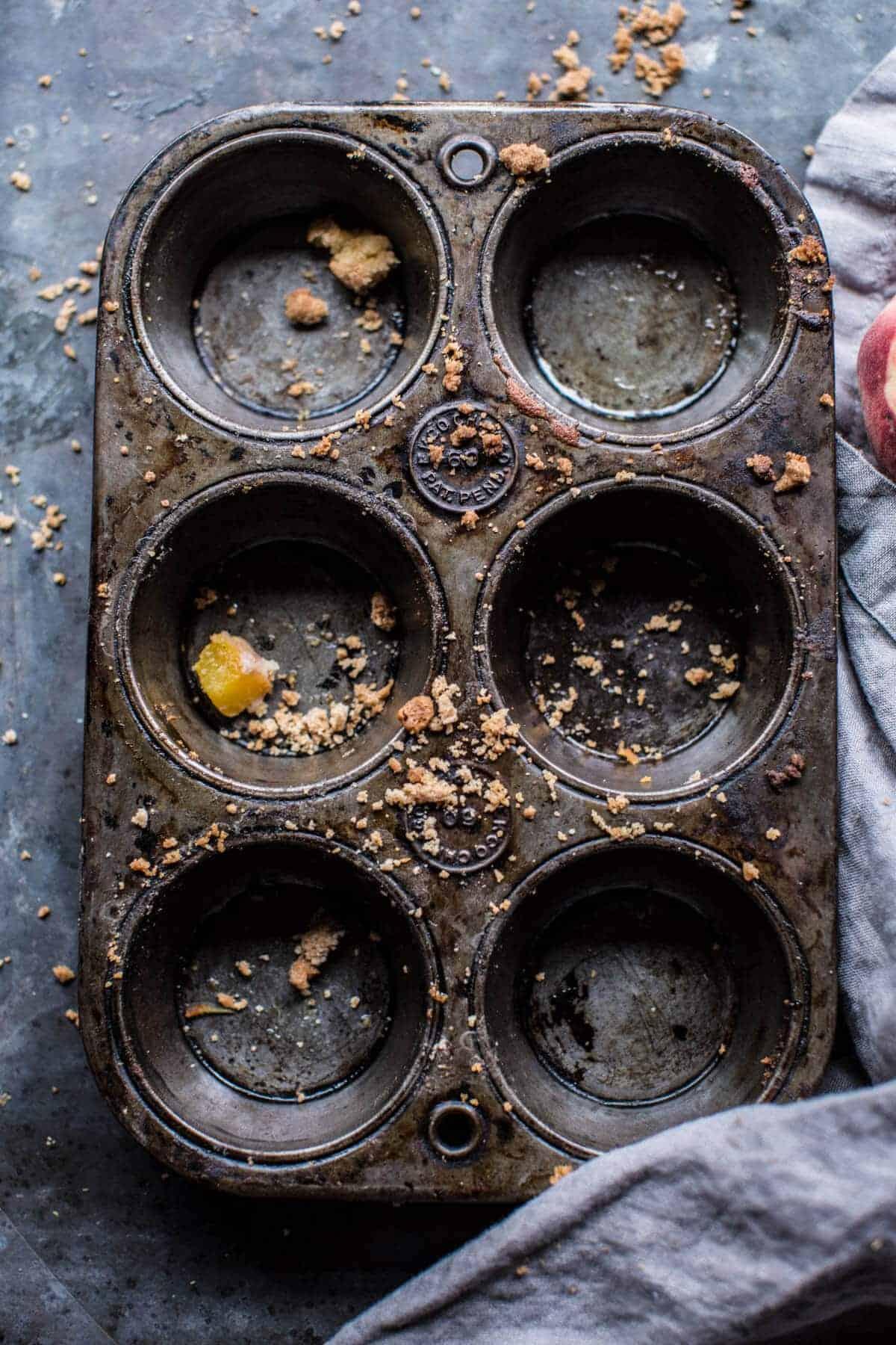 Zucchini Peach Streusel Muffins | halfbakedharvest.com @hbharvest