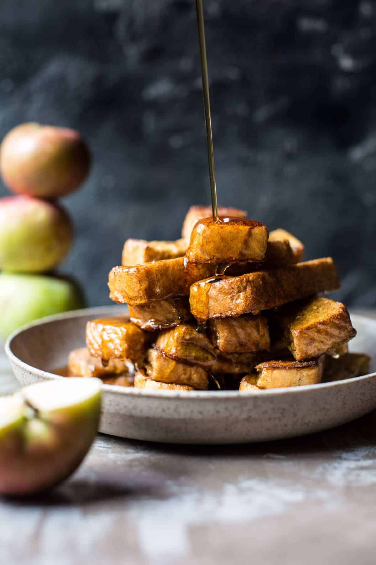 Apple Butter Cinnamon French Toast Sticks Video Half Baked Harvest