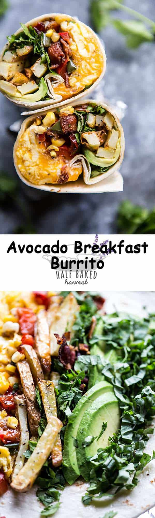 Avocado Breakfast Burrito | halfbakedharvest.com @hbharvest