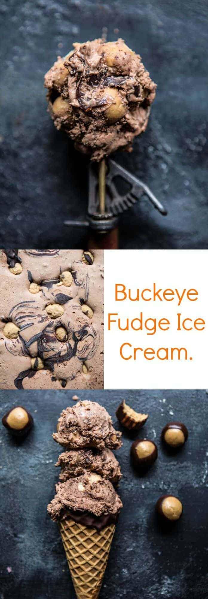 Buckeye Fudge Ice Cream | halfbakedharvest.com @hbharvest