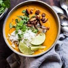 Creamy Thai Carrot Sweet Potato Soup.