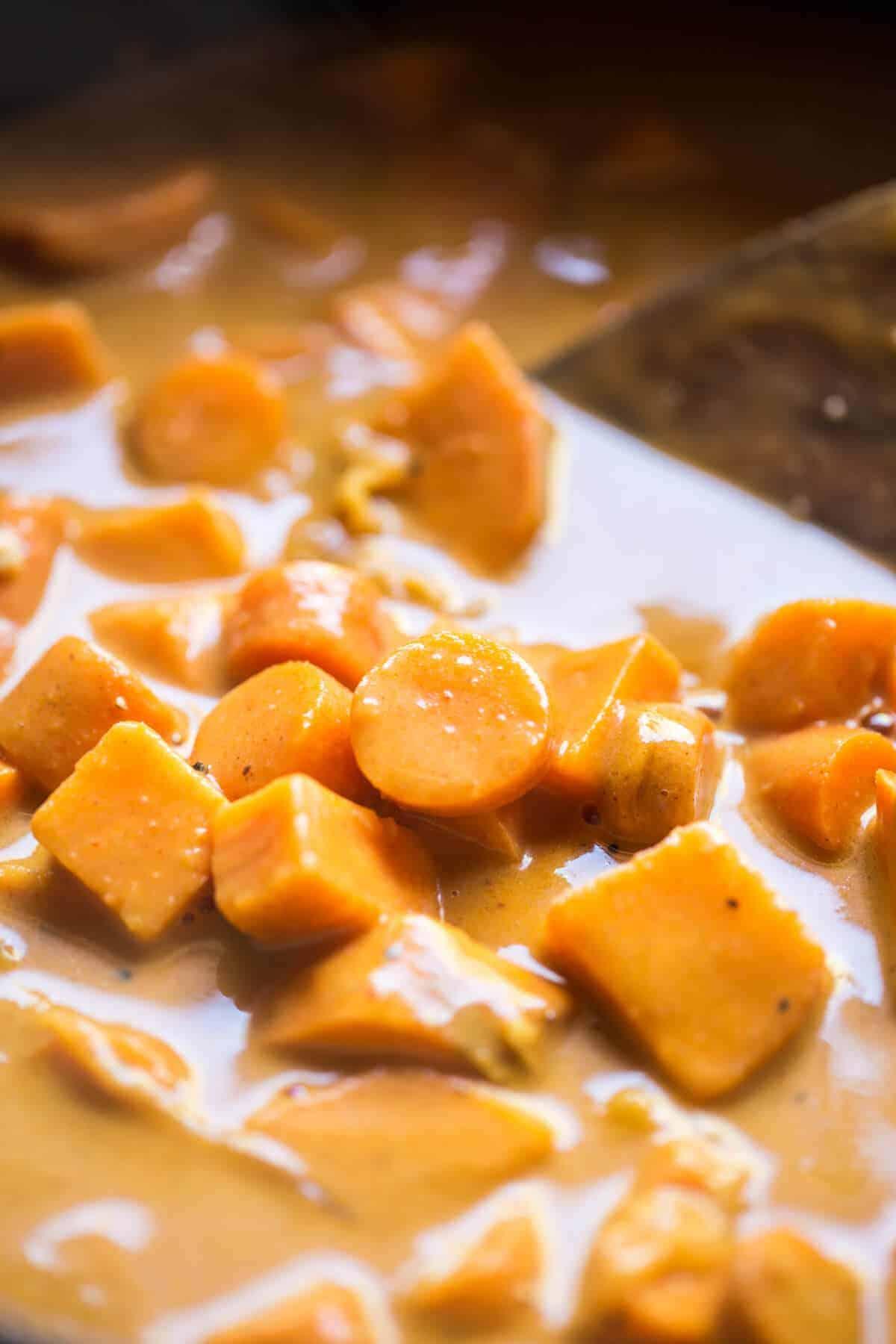 Creamy Thai Carrot Sweet Potato Soup | halfbakedharvest.com @hbharvest