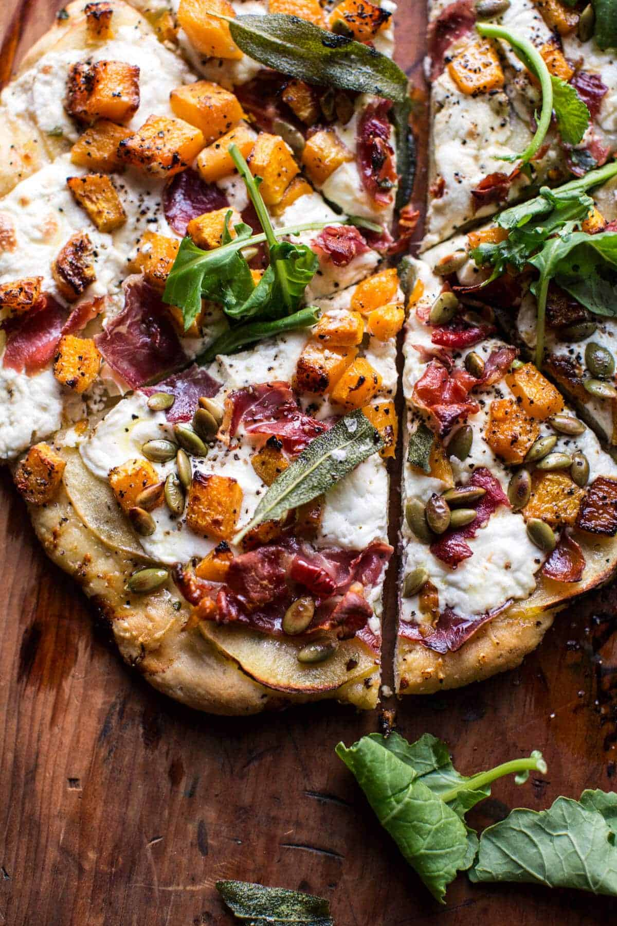 Roasted Butternut Squash Apple Burrata Pizza. - Half Baked Harvest