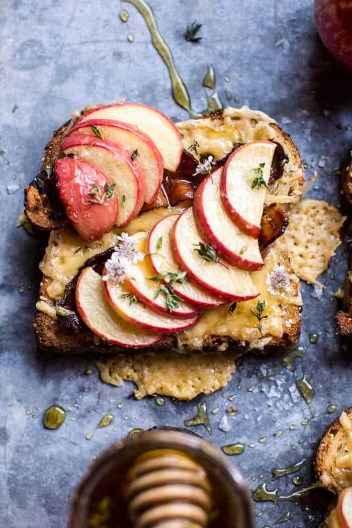 Salted Honey Apple and Gouda Toast | halfbakedharvest.com @hbharvest