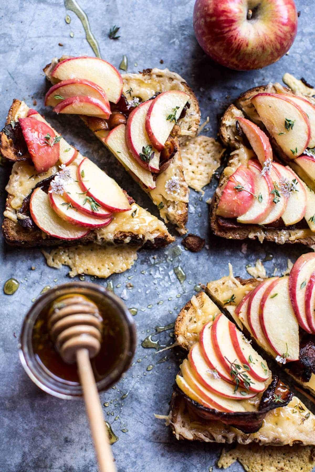 Salted Honey Apple and Gouda Toast   halfbakedharvest.com @hbharvest
