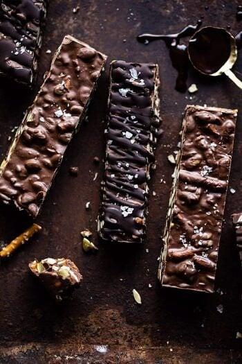 Addicting 5 Ingredient Crockpot Chocolate Bars.