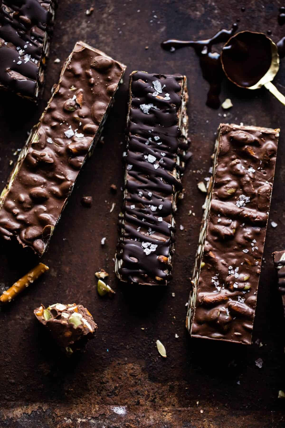 Addicting 5 Ingredient Crockpot Chocolate Bars | halfbakedharvest.com @hbharvest