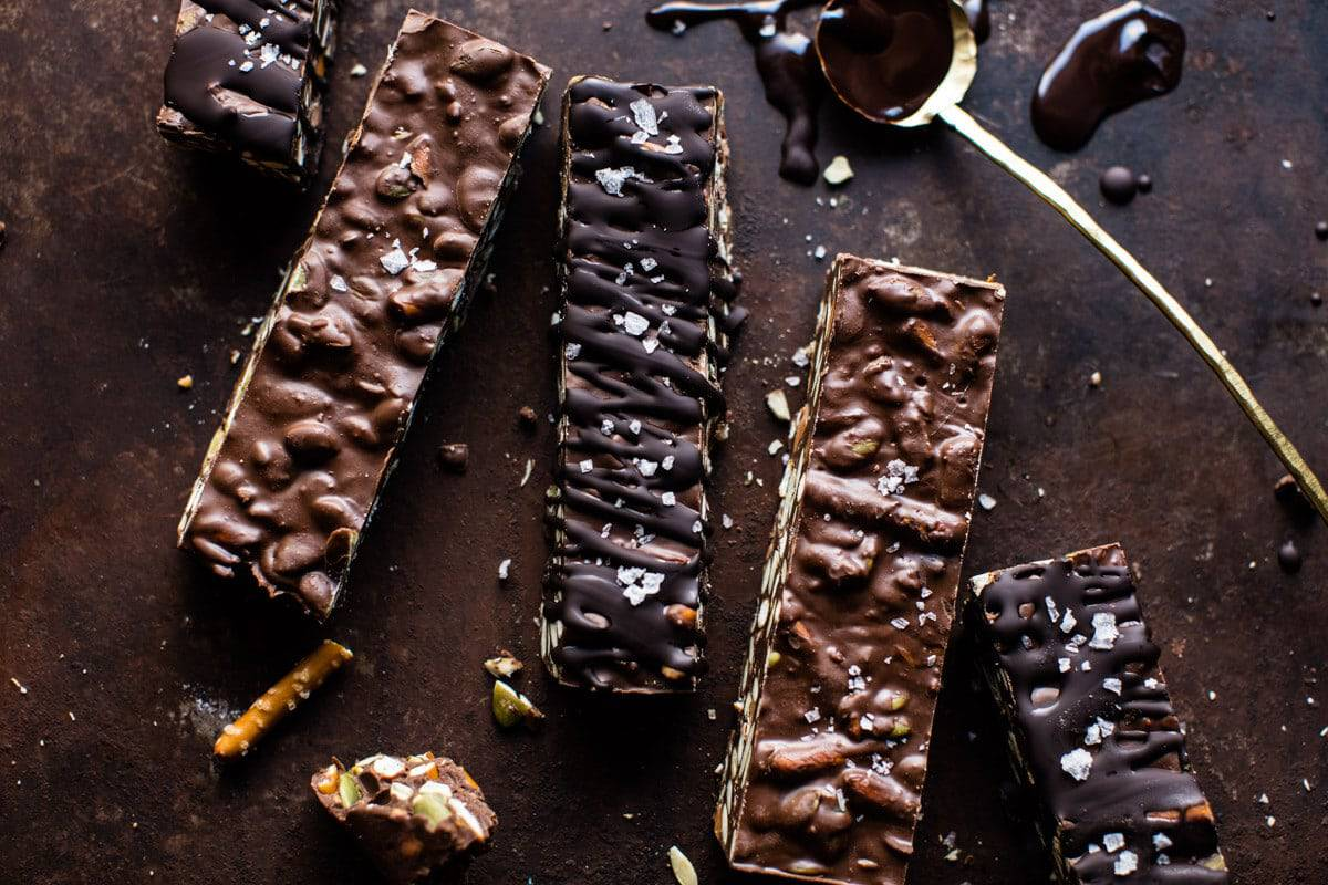 Addicting 5 Ingredient Crockpot Chocolate Bars   halfbakedharvest.com @hbharvest