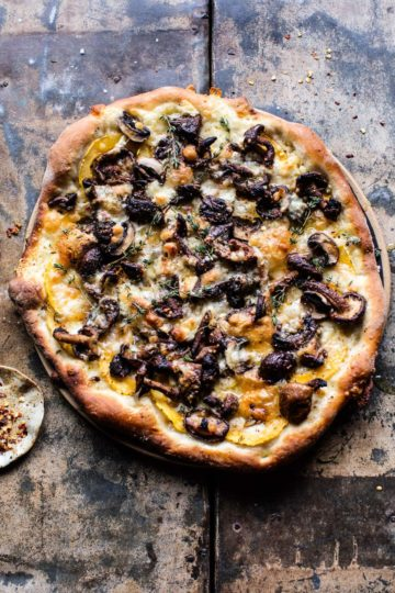 Balsamic Mushroom and Goat Cheese Pizza.