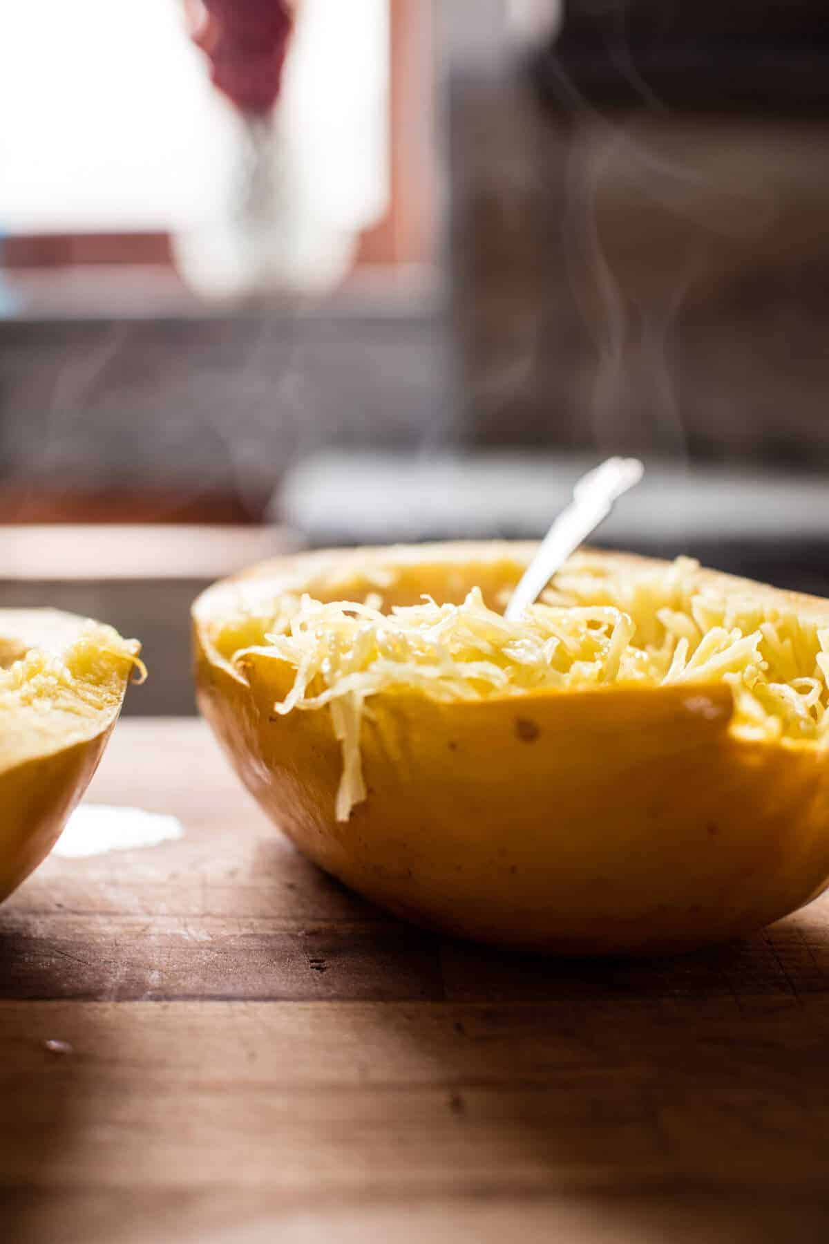 Crockpot Spaghetti Squash Lasagna Bolognese | halfbakedharvest.com @hbharvest