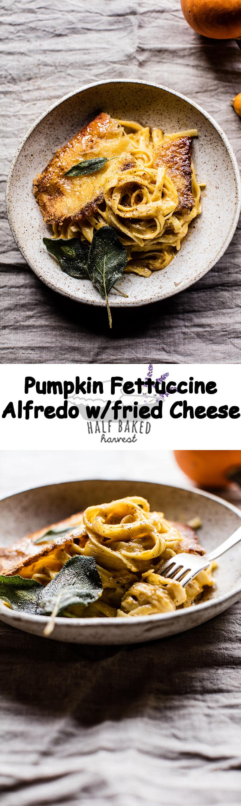 Brown Butter Pumpkin Fettuccine Alfredo with Fried Cheese | halfbakedharvest.com @hbharvest
