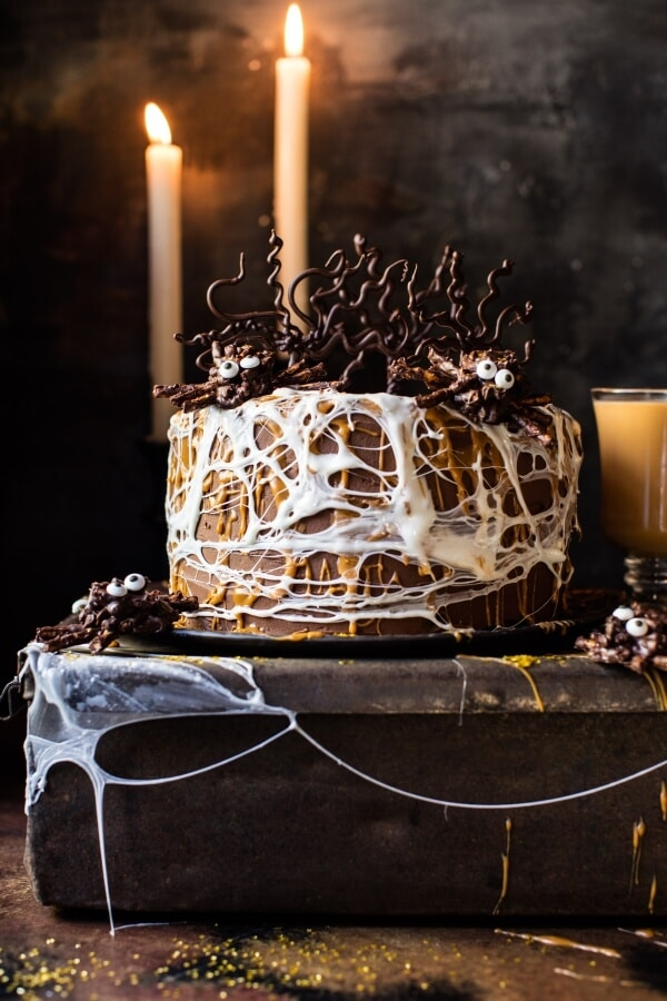Forbidden Forest Chocolate Butterbeer Cake.