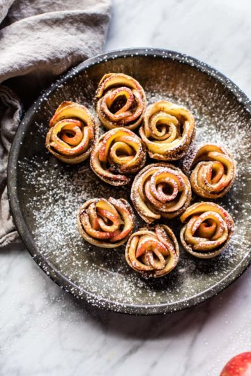Mini Pecan Butter Apple Rose Tarts.