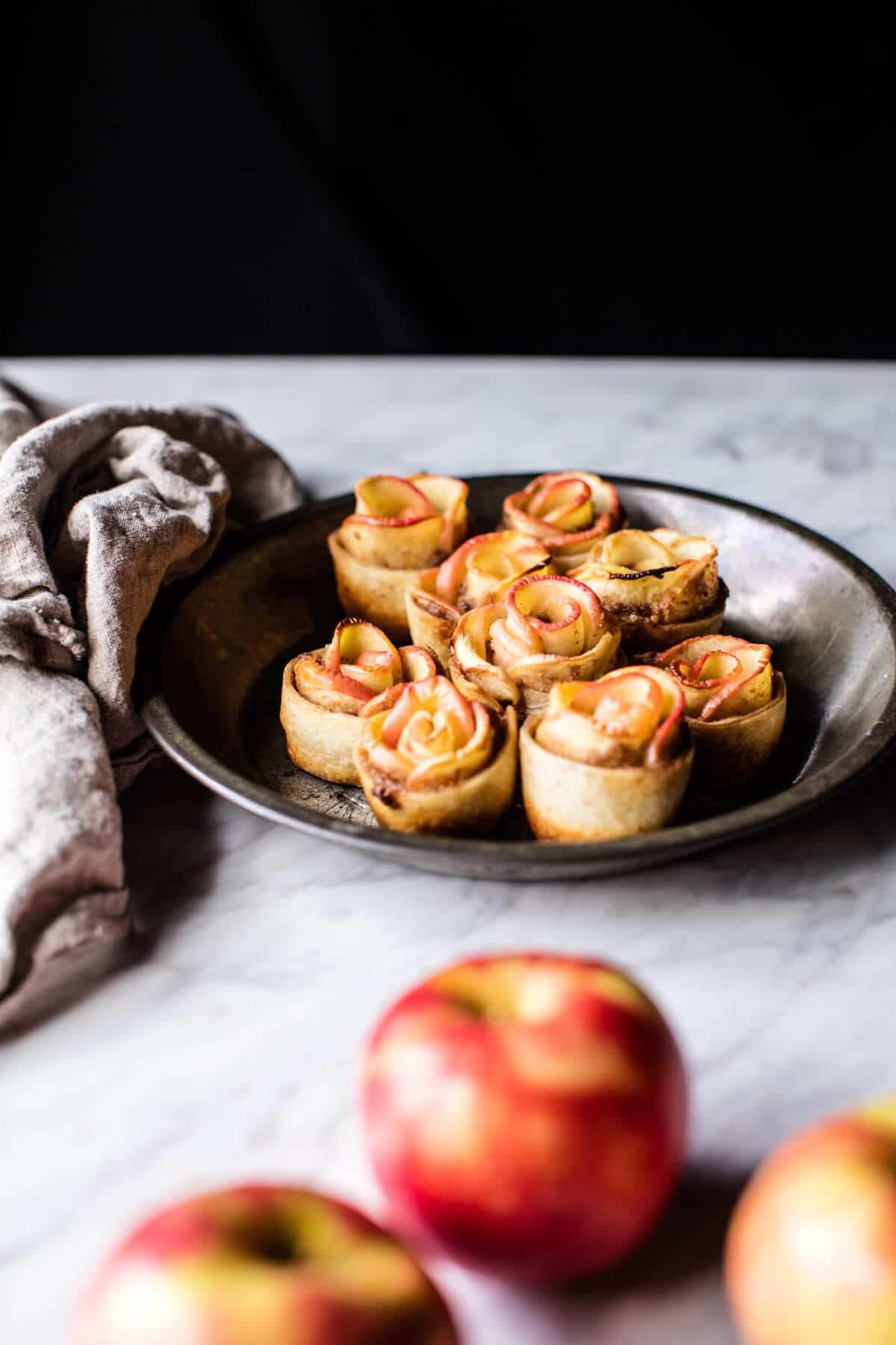 Mini Pecan Butter Apple Roses | halfbakedharvest.com @hbharvest