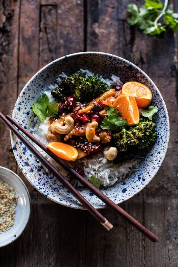 20 Minute Cranberry Orange Stir Fry.