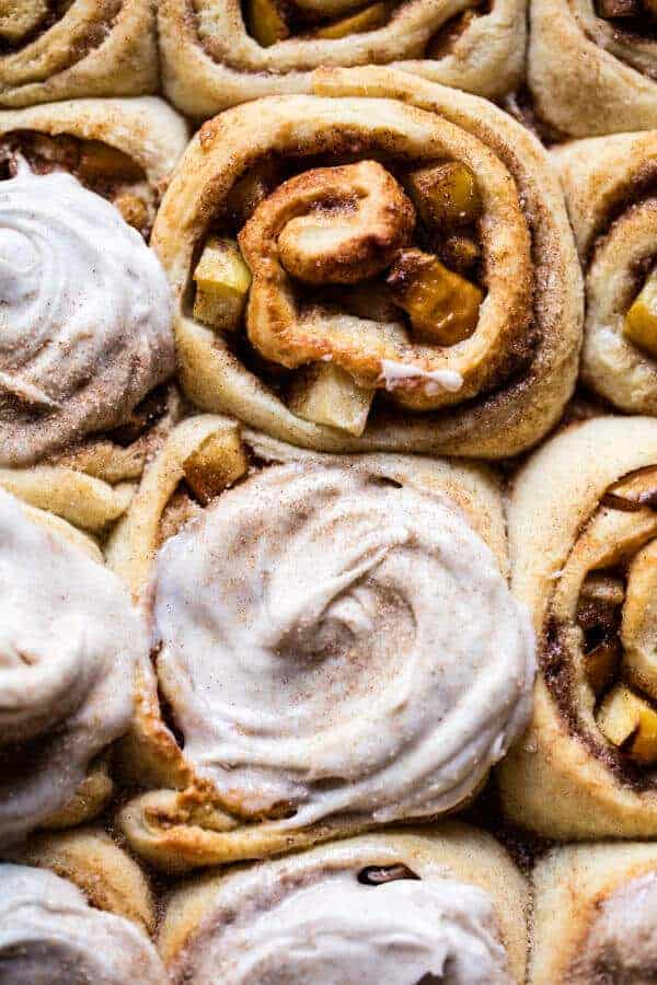 Apple Cinnamon Rolls with Cream Cheese Chai Frosting | halfbakedharvest.com @hbharvest