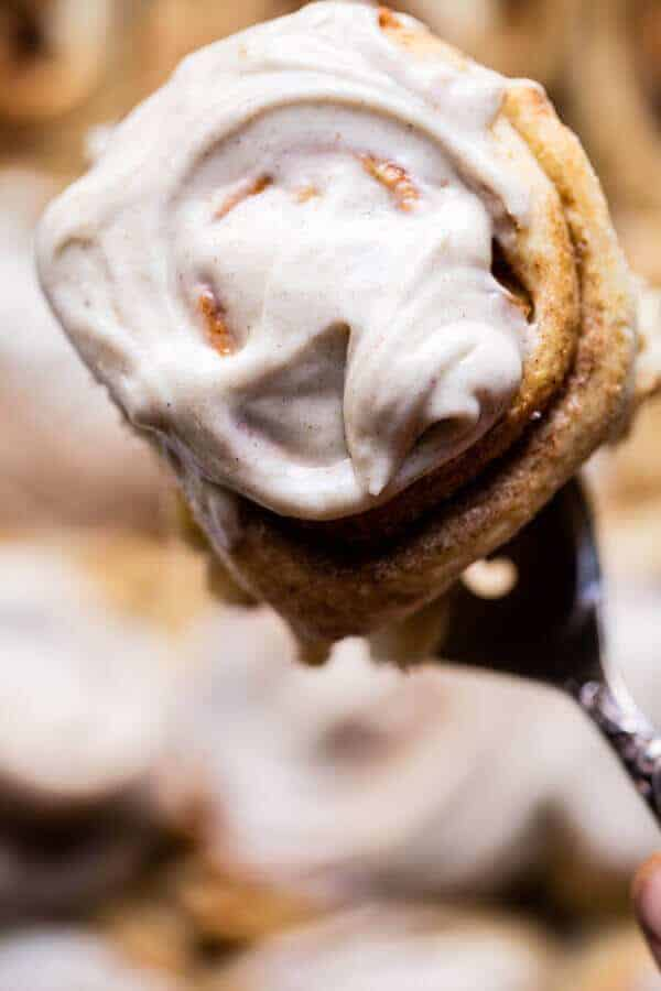 Apple Cinnamon Rolls with Cream Cheese Chai Frosting   halfbakedharvest.com @hbharvest