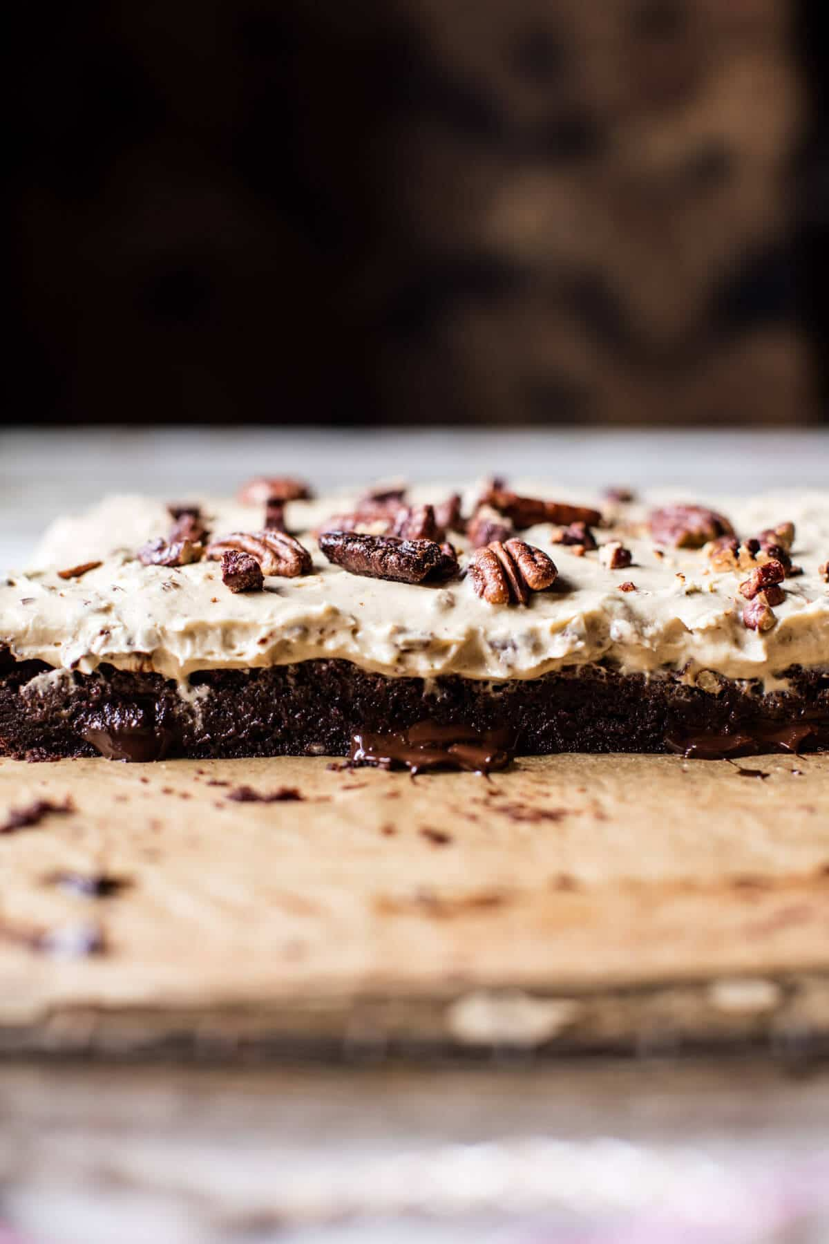 Butter Pecan Frosted Fudge Brownies | halfbakedharvest.com @hbharvest