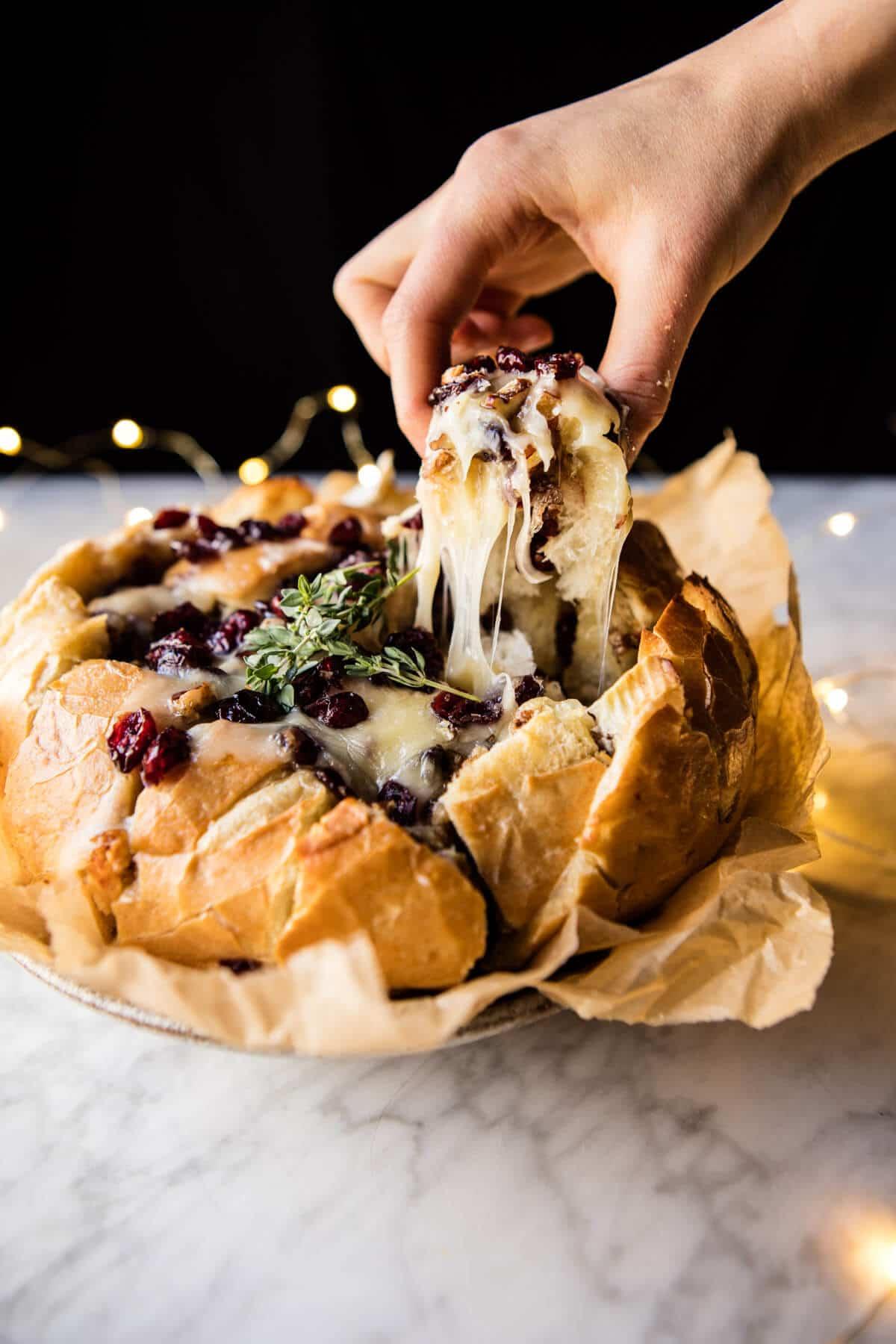 Cranberry Brie Pull Apart Bread Halfbakedharvest Com Hbharvest