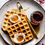 Crispy Belgian Waffles.