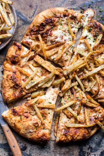 French Fry Cheese Pizza.