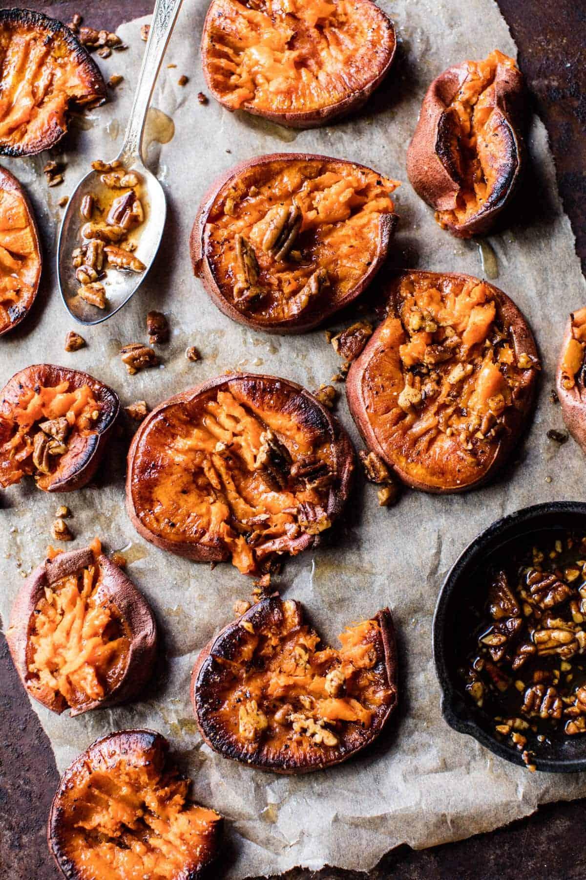 Crispy Roasted Sweet Potatoes with Bourbon Maple Butter. - Unionbeatz ...