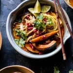 Thai Pomegranate Chicken Khao Soi Noodle Soup | halfbakedharvest.com @hbharvest
