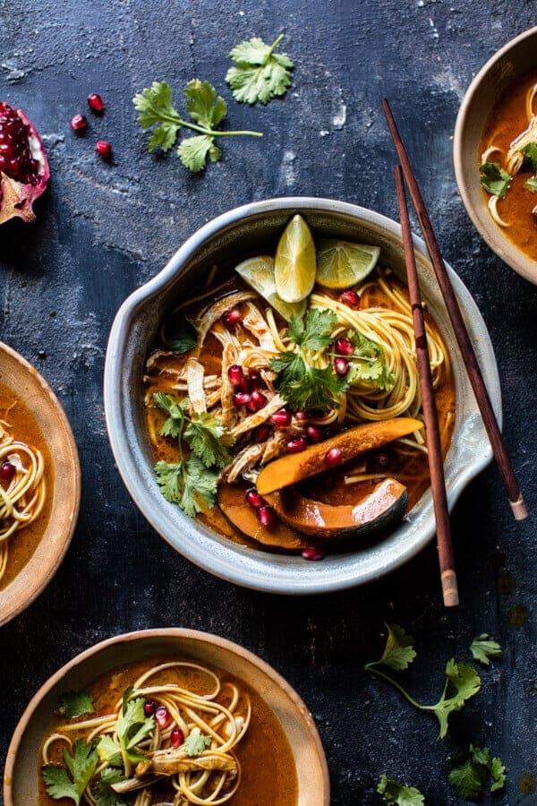 Thai Pomegranate Chicken Khao Soi Noodle Soup   halfbakedharvest.com @ ...