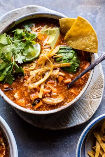 Turkey Enchilada Quinoa Soup.