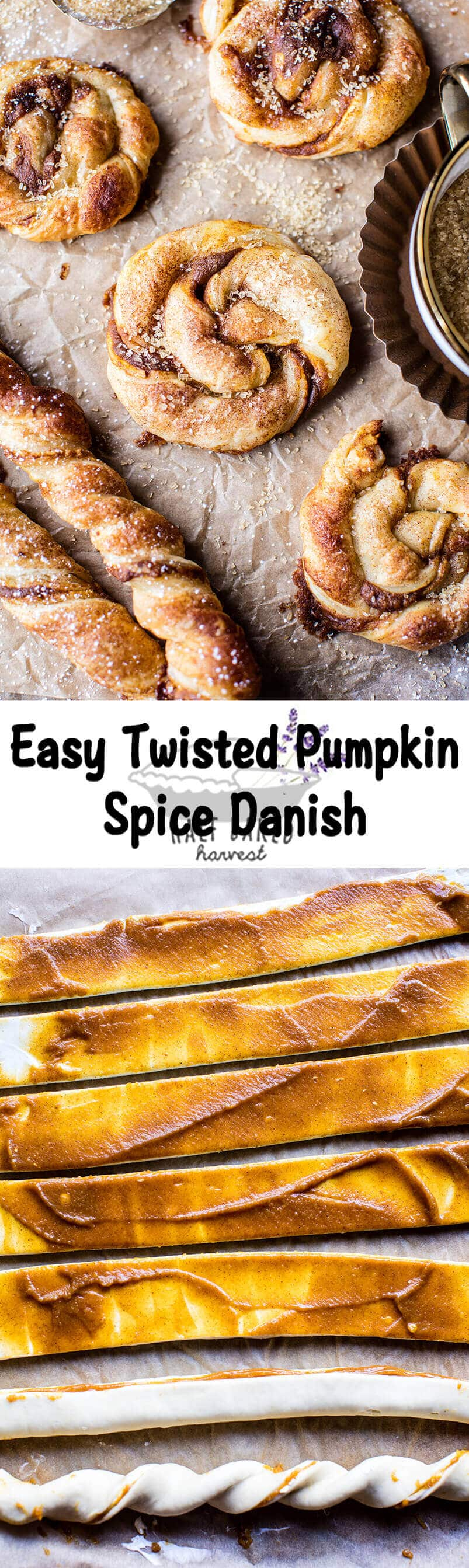 Easy Twisted Pumpkin Spice Danish | halfbakedharvest.com @hbharvest