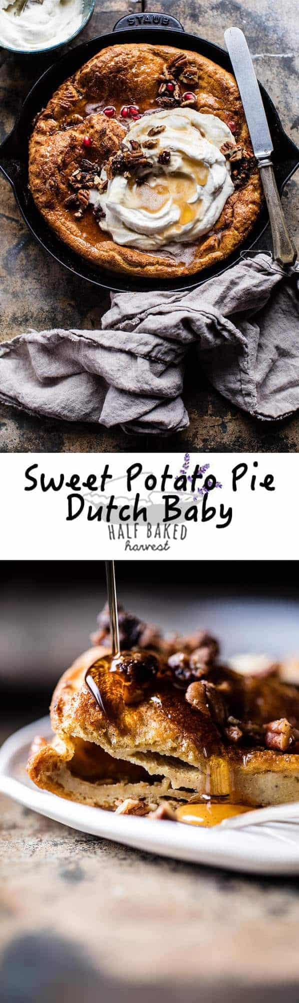 Sweet Potato Pie Dutch Baby | halfbakedharvest.com @hbharvest