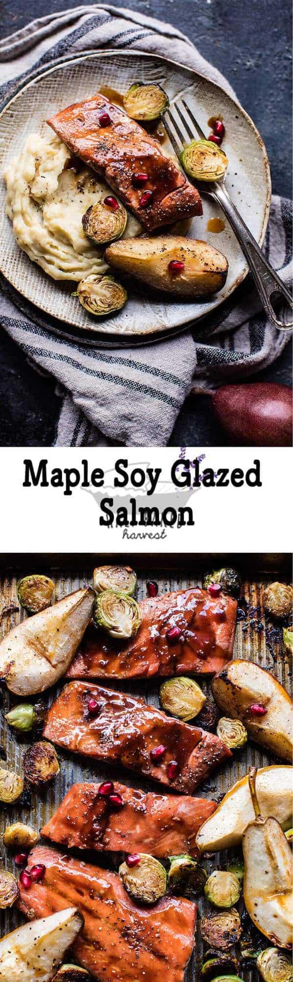 Maple Soy Glazed Baked Salmon | halfbakedharvest.com @hbharvest