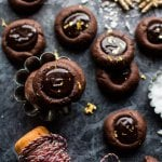Chocolate Espresso Thumbprint Cookies.