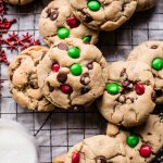 Christmas Chocolate Chip Cookies.