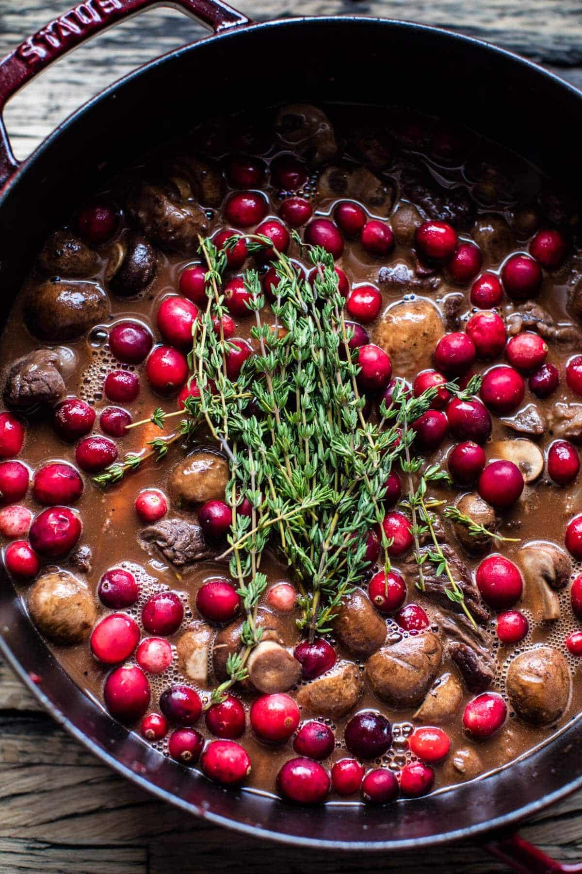 Cranberry Beef Bourguignon | halfbakedharvest.com @hbharvest