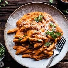 Crockpot Sun-Dried Tomato Penne Alla Vodka.