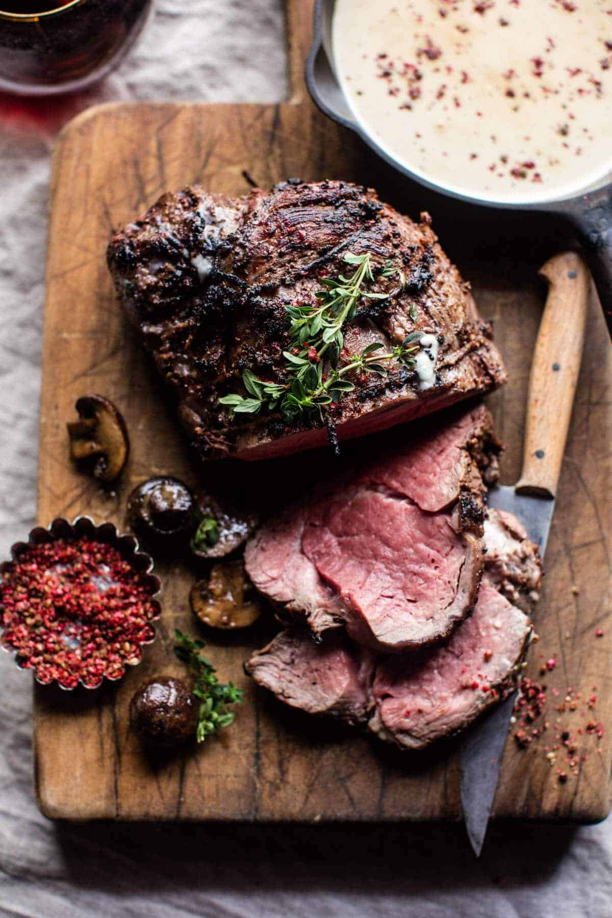 how to cook medium rare roast beef joint