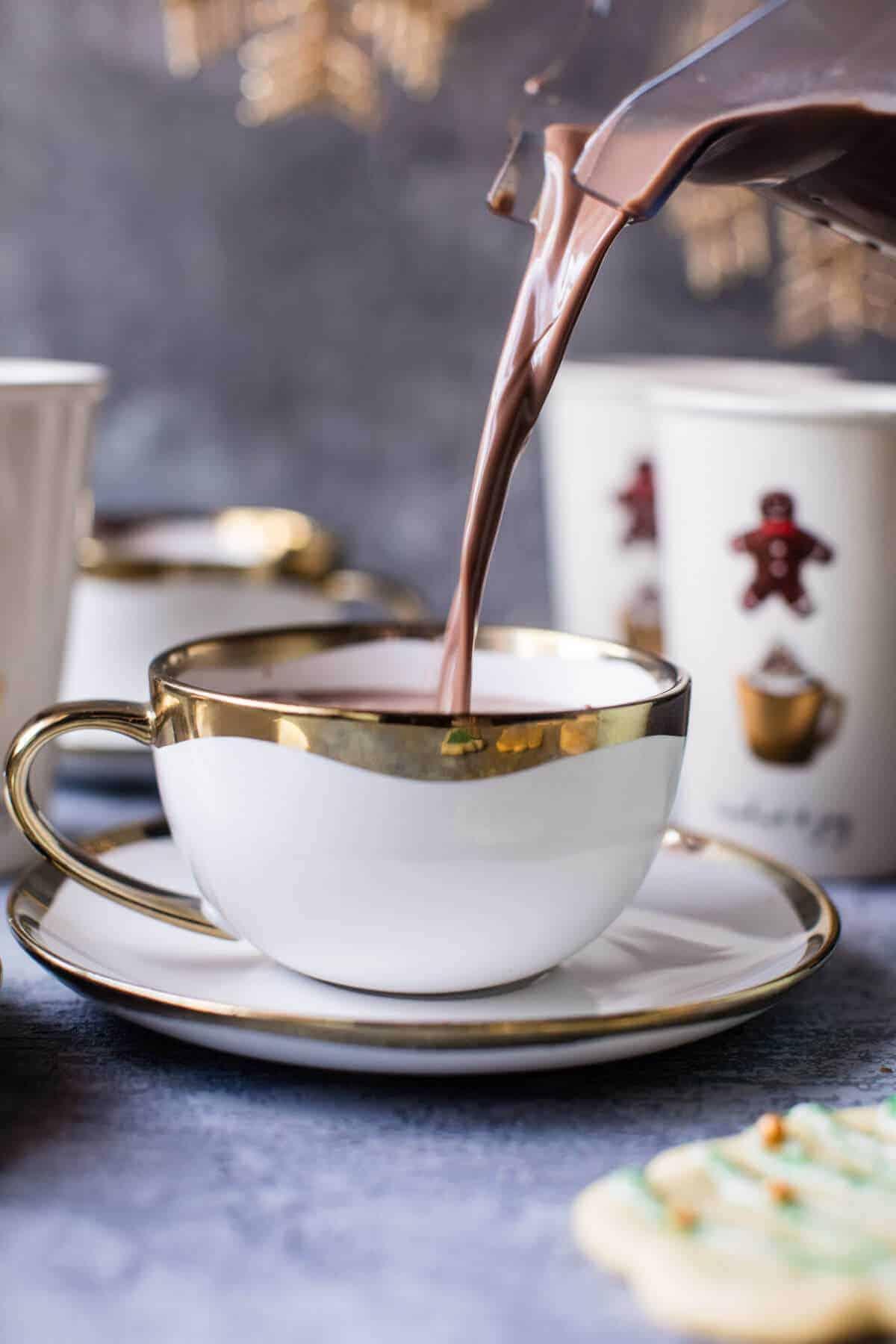 Hot chocolate sugar