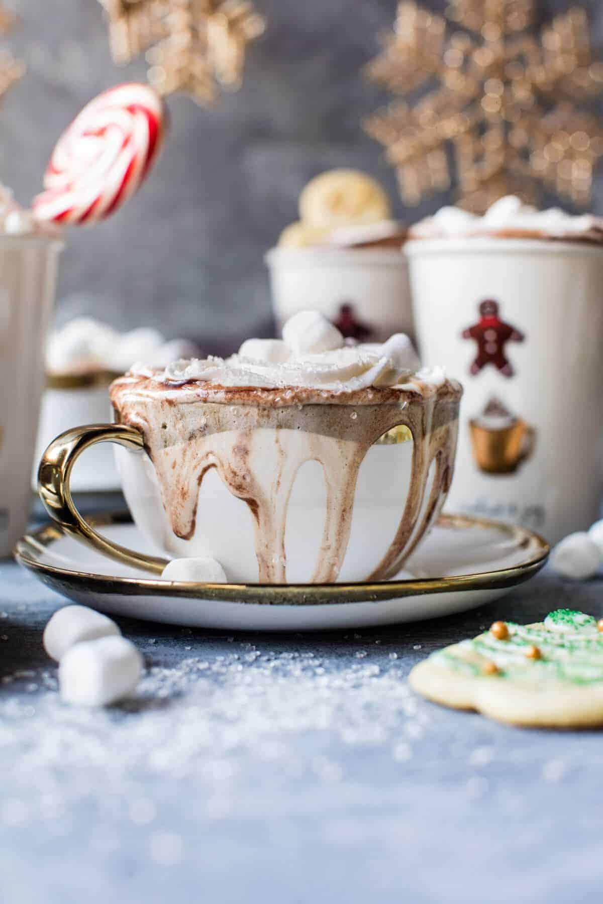 Sugar Cookie Hot Chocolate | halfbakedharvest.com @hbharvest