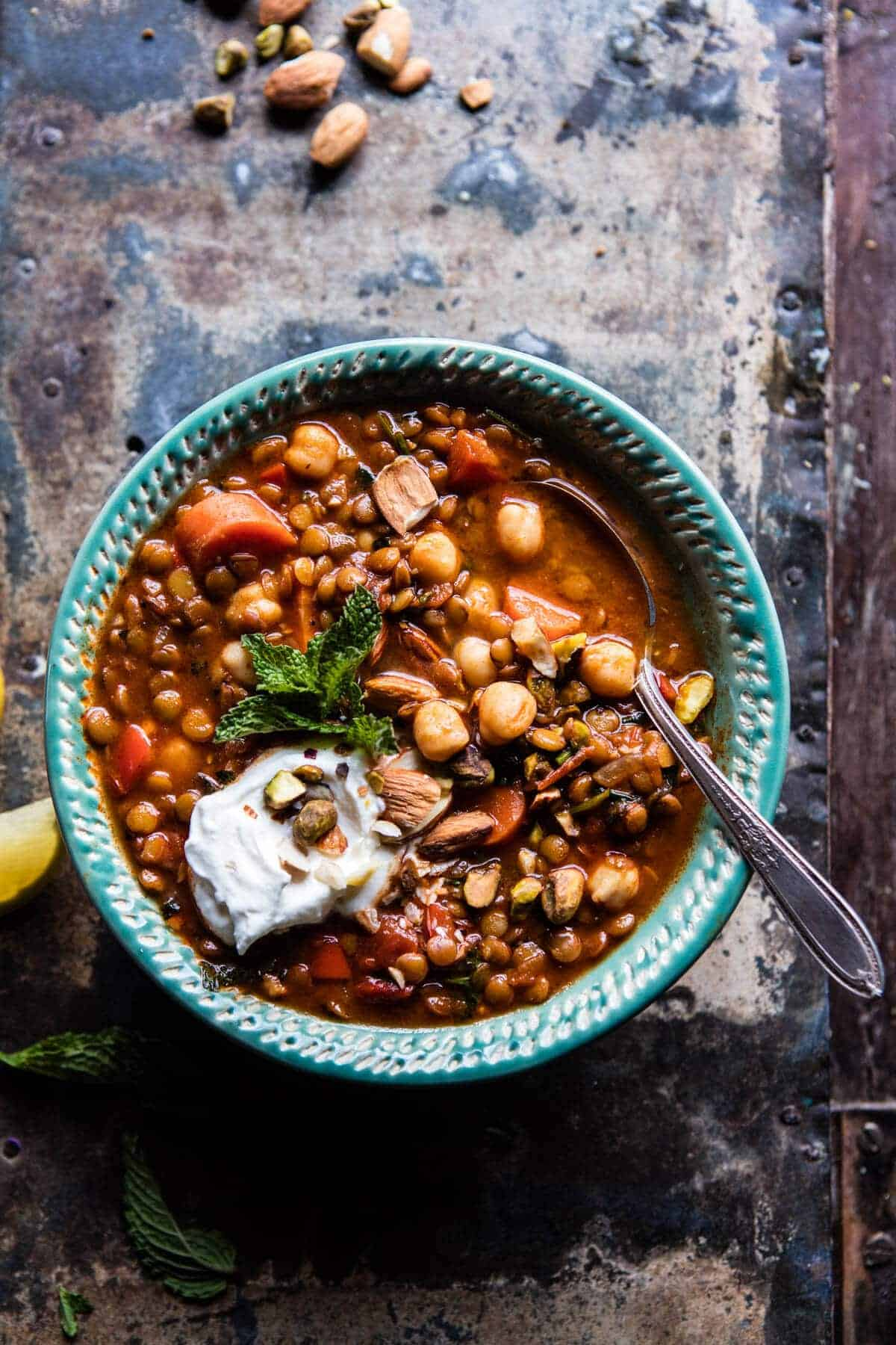 Crockpot Moroccan Lentil and Chickpea Soup | halfbakedharvest.com @ ...