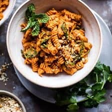 Golden Sun-Dried Tomato Red Lentil Pasta.